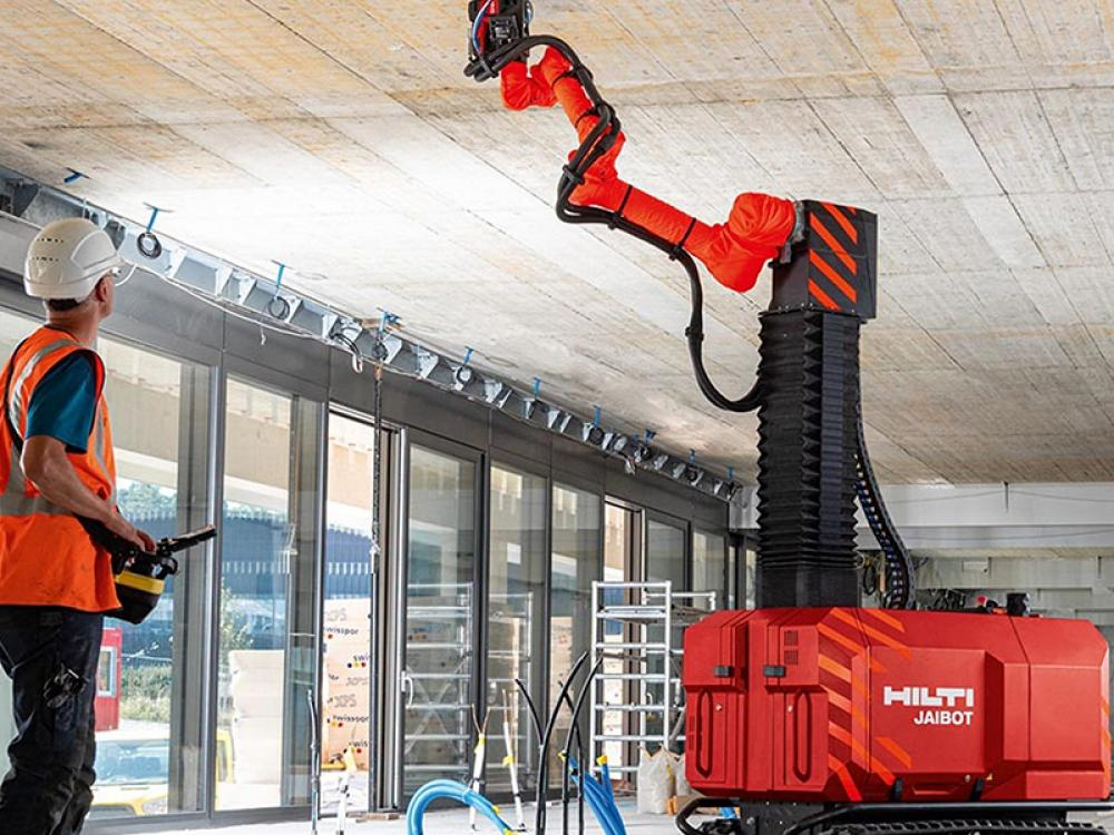 HILTI UNVEILS BIM-ENABLED CONSTRUCTION JOBSITE ROBOT